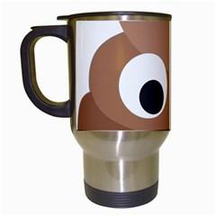 Poo Happens Travel Mugs (white)