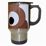 Poo Happens Travel Mugs (White) Right