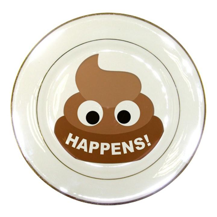 Poo Happens Porcelain Plates