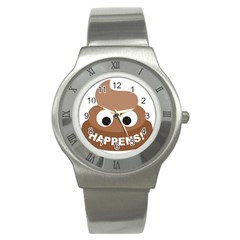 Poo Happens Stainless Steel Watch