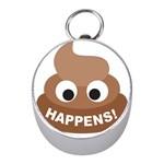 Poo Happens Mini Silver Compasses Front