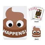 Poo Happens Playing Card Back