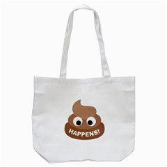 Poo Happens Tote Bag (white)