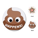 Poo Happens Playing Cards (Round)  Front