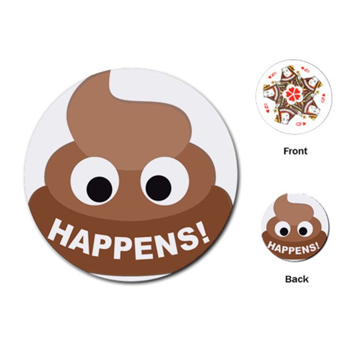 Poo Happens Playing Cards (Round)