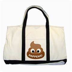 Poo Happens Two Tone Tote Bag