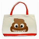 Poo Happens Classic Tote Bag (Red) Front