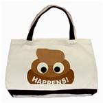 Poo Happens Basic Tote Bag (Two Sides) Back