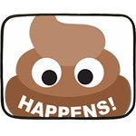 Poo Happens Double Sided Fleece Blanket (Mini)  35 x27 Blanket Back
