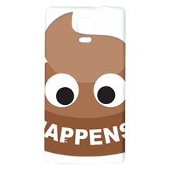 Poo Happens Galaxy Note 4 Back Case
