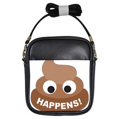 Poo Happens Girls Sling Bags