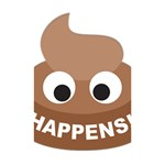 Poo Happens Shower Curtain 48  x 72  (Small)  42.18 x64.8 Curtain