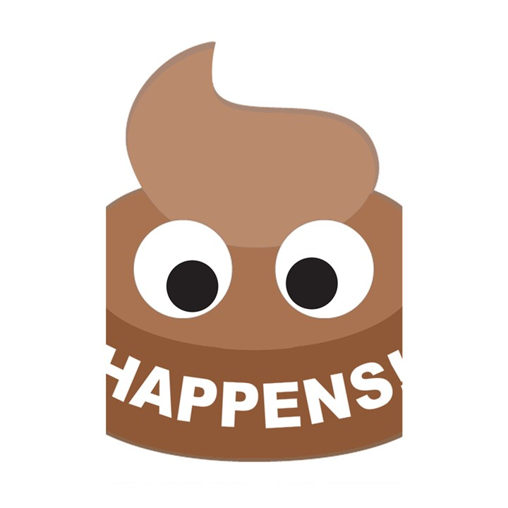 Poo Happens Shower Curtain 48  x 72  (Small)