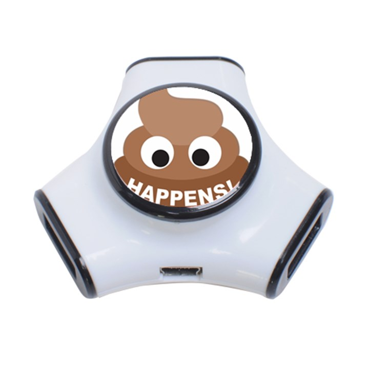 Poo Happens 3-Port USB Hub