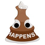 Poo Happens Christmas Tree Ornament (Two Sides) Back