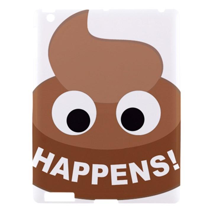 Poo Happens Apple iPad 3/4 Hardshell Case