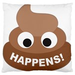 Poo Happens Large Cushion Case (Two Sides) Back