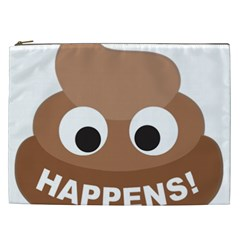 Poo Happens Cosmetic Bag (xxl)