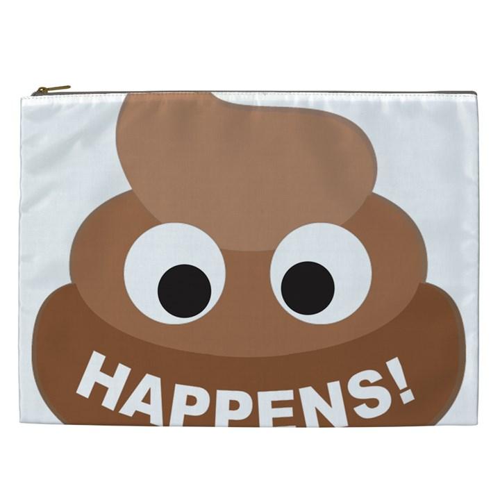 Poo Happens Cosmetic Bag (XXL)