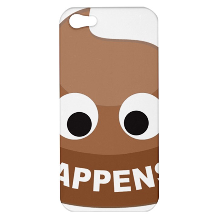 Poo Happens Apple iPhone 5 Hardshell Case