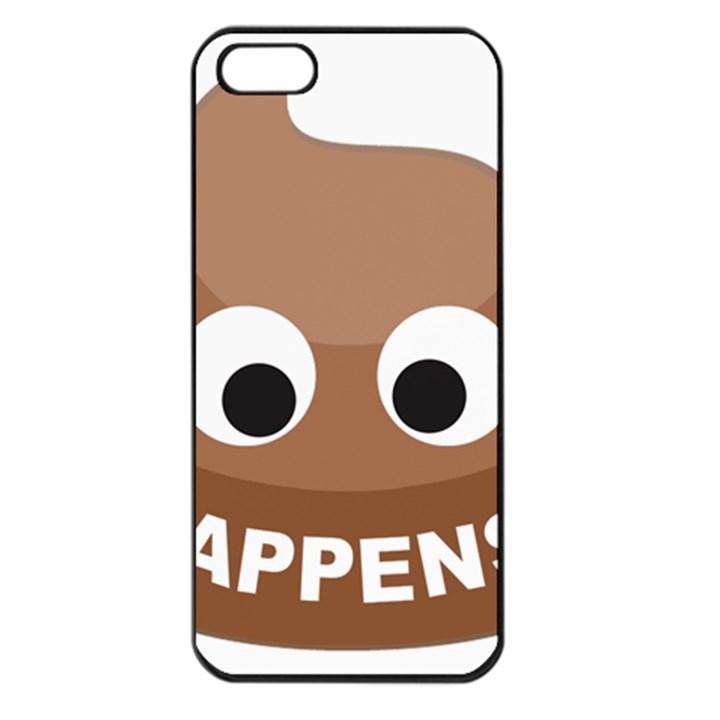 Poo Happens Apple iPhone 5 Seamless Case (Black)