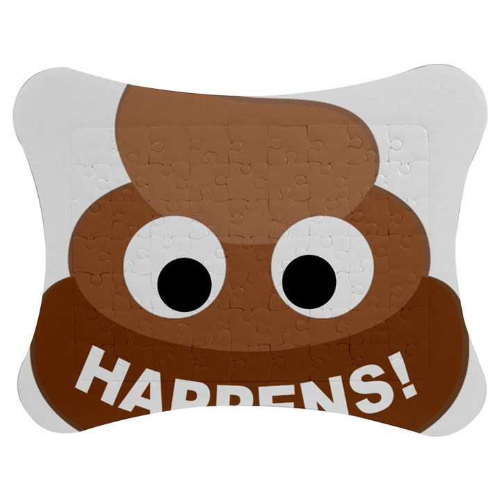 Poo Happens Jigsaw Puzzle Photo Stand (Bow)