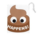 Poo Happens Drawstring Pouches (Extra Large) Front