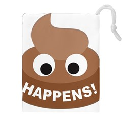 Poo Happens Drawstring Pouches (xxl)