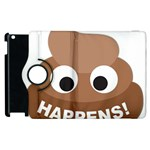 Poo Happens Apple iPad 3/4 Flip 360 Case Front