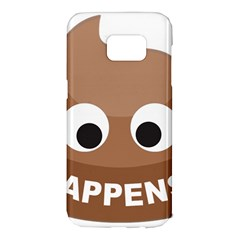 Poo Happens Samsung Galaxy S7 Edge Hardshell Case
