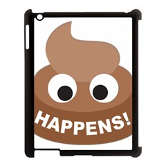 Poo Happens Apple Ipad 3/4 Case (black)