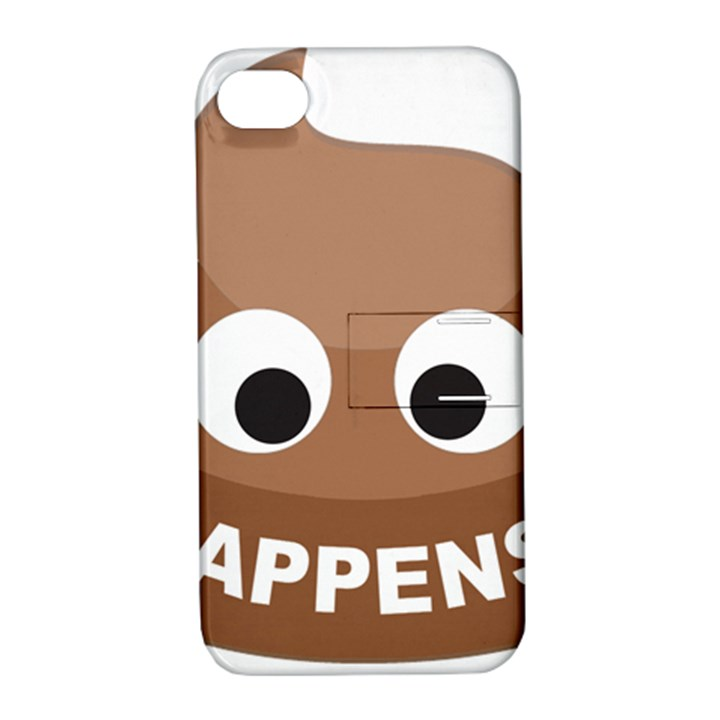 Poo Happens Apple iPhone 4/4S Hardshell Case with Stand