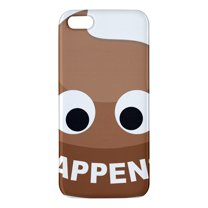 Poo Happens Apple iPhone 5 Premium Hardshell Case