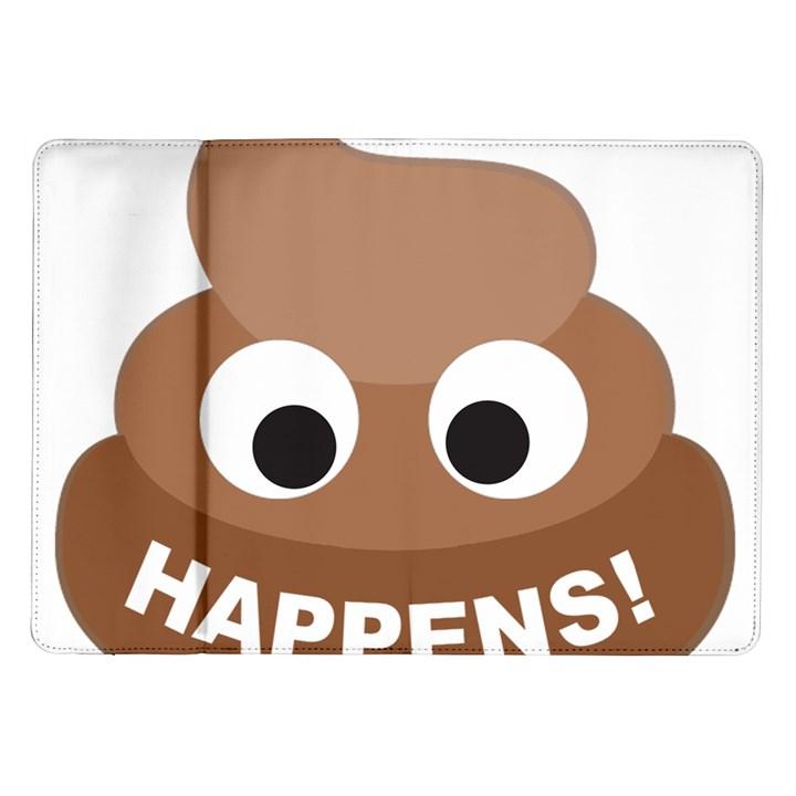 Poo Happens Samsung Galaxy Tab 10.1  P7500 Flip Case