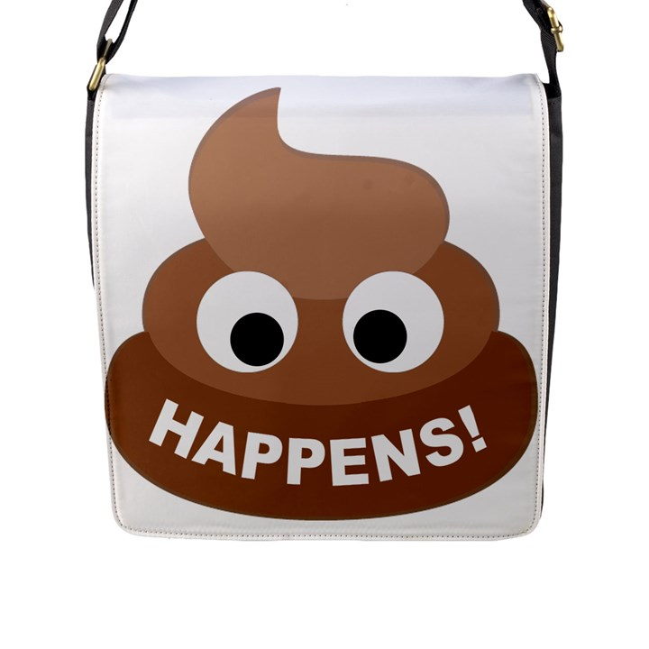 Poo Happens Flap Messenger Bag (L)