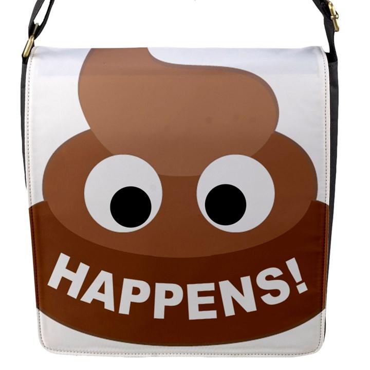 Poo Happens Flap Messenger Bag (S)