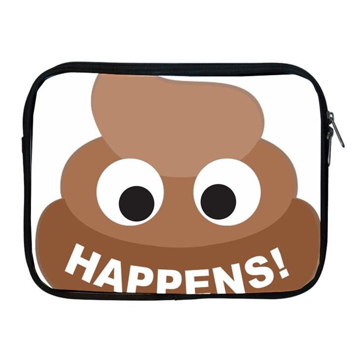 Poo Happens Apple iPad 2/3/4 Zipper Cases