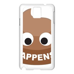 Poo Happens Samsung Galaxy Note 3 N9005 Case (white)