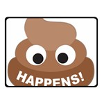 Poo Happens Double Sided Fleece Blanket (Small)  50 x40 Blanket Front