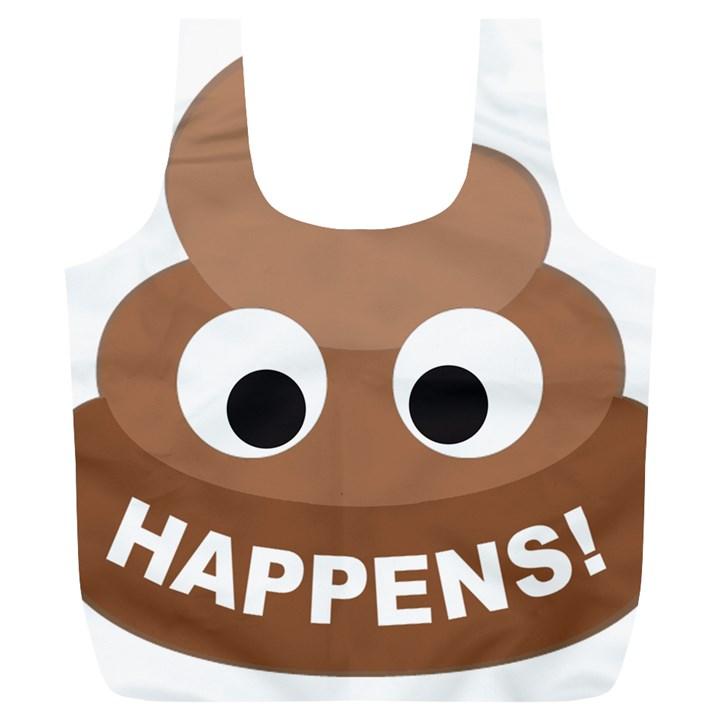 Poo Happens Full Print Recycle Bags (L)