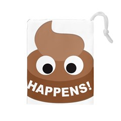 Poo Happens Drawstring Pouches (large)