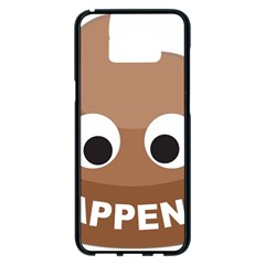 Poo Happens Samsung Galaxy S8 Plus Black Seamless Case