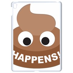 Poo Happens Apple Ipad Pro 9 7   White Seamless Case