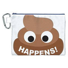 Poo Happens Canvas Cosmetic Bag (xxl)