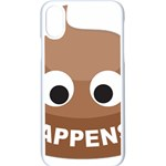 Poo Happens Apple iPhone X Seamless Case (White) Front