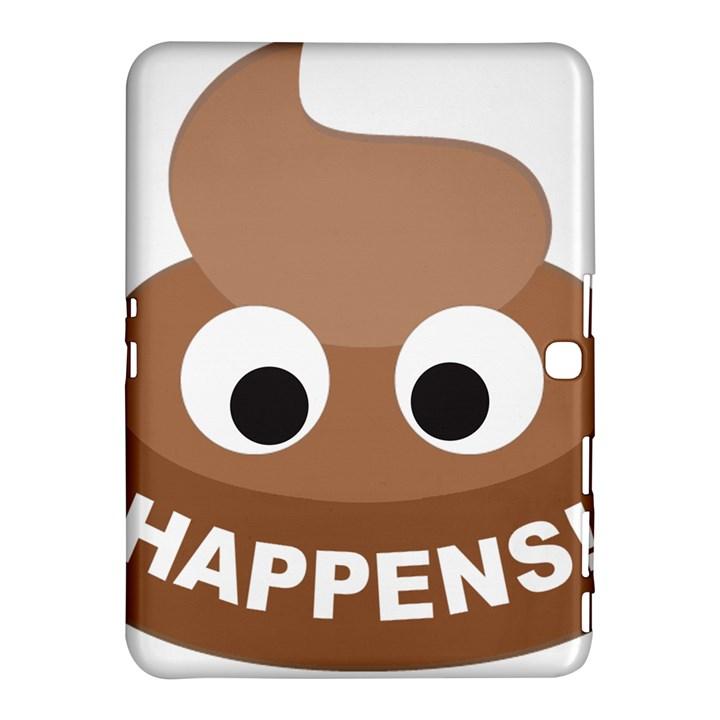 Poo Happens Samsung Galaxy Tab 4 (10.1 ) Hardshell Case