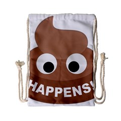 Poo Happens Drawstring Bag (small)