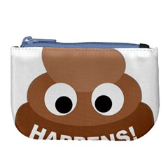 Poo Happens Large Coin Purse