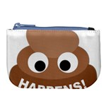 Poo Happens Large Coin Purse Front