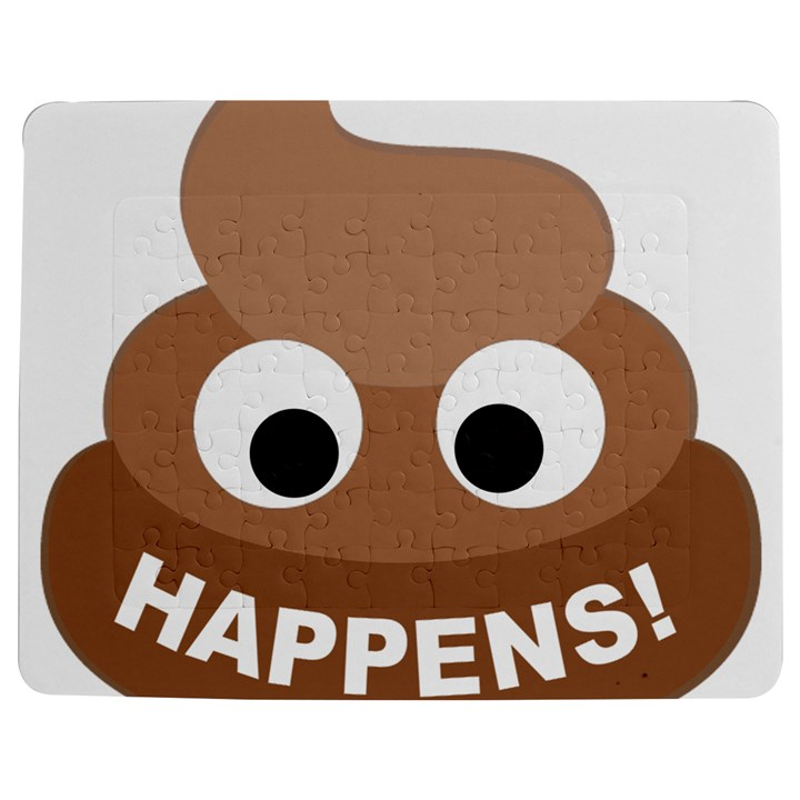 Poo Happens Jigsaw Puzzle Photo Stand (Rectangular)